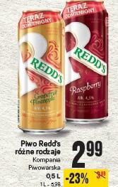 Piwo Redd's różne rodzaje Kompania Piwowarska