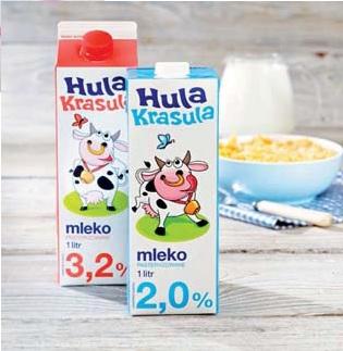 Mleko Hula Krasula 2%, 3,2% 1 l