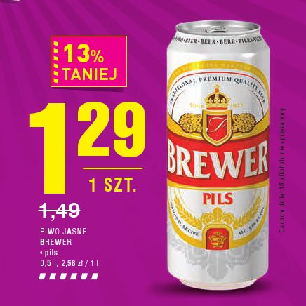 PIWO JASNE BREWER • pils