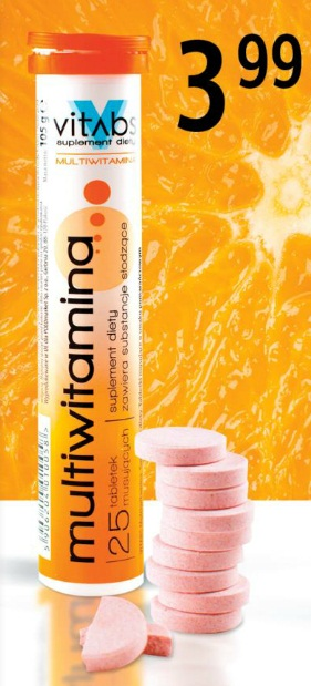 Tabletki musujące Vitabs różne rodzaje