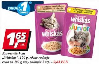 Karma dla kota Whiskas różne rodzaje
