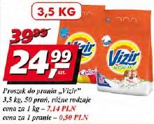 Proszek do prania Vizir 50 prań różne rodzaje