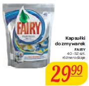 Kapsułki do zmywarek FAIRY