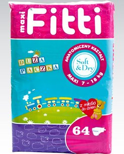 Pieluchy Fitti Maxi, 64 szt.