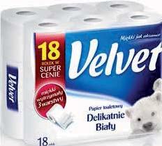 Papier toaletowy Velvet 18 rolek