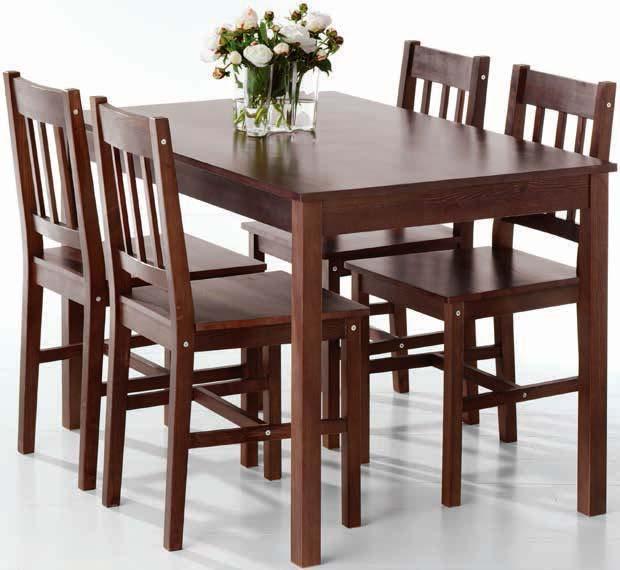 Stół + 4 krzesła Tylstrup