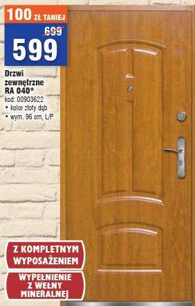 Drzwi zewnętrzne RA 040