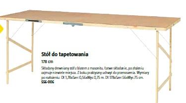 Stół do tapetowania