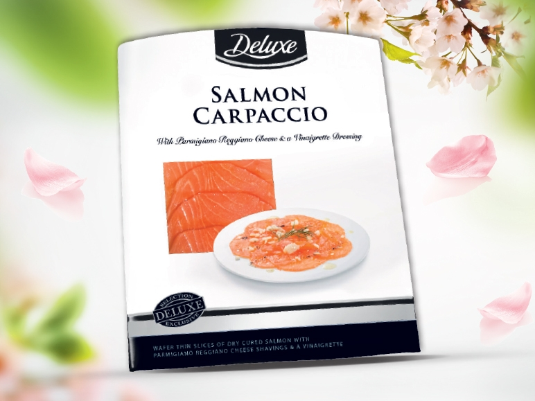 Carpaccio z łososia z parmezanem, 100 g