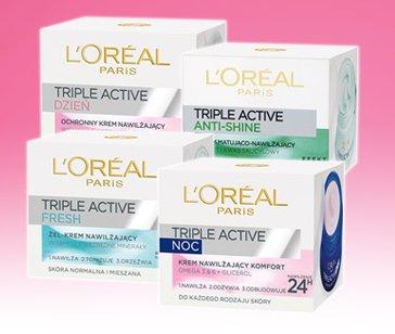 Krem do twarzy L'Oréal Paris triple Active, 50 ml