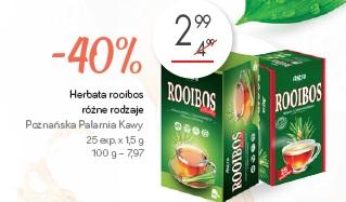 Herbata rooibos różne rodzaje Poznańska Palarnia Kawy