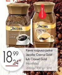 Kawa rozpuszczalna Jacobs Crema Gold lub Cronat Gold Mondelez