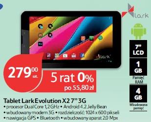 """Tablet Lark Evolution X2 7"""" 3G"""