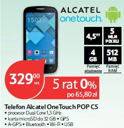Telefon Alcatel OneTouch POP C5