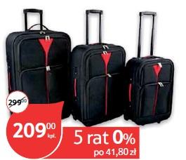 Zestaw 3 walizek na kółkach Amsterdam