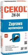 Zaprawa wyrównująca CEKOL ZW-04