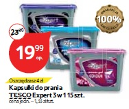 Kapsułki do prania Tesco Expert 3 w 1 15 szt.