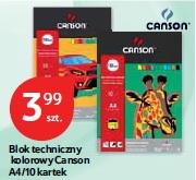 Blok techniczny kolorowy Canson A4/10 kartek
