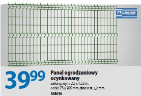 Panel ogrodzeniowy ocynkowany cena