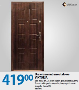 Drzwi zewnętrzne stalowe VIKTORIA