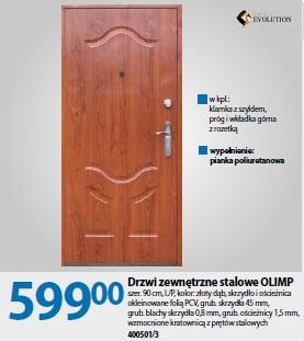 Drzwi zewnętrzne stalowe OLIMP
