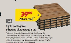 Płytki podłogowe z drewna akacjowego 5 szt