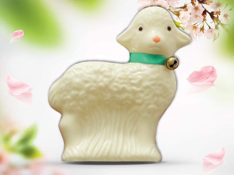Baranek wielkanocny z białej czekolady