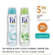 FA FRESH & DRY LOTUS FLOWER, GREEN TEA Dezodoranty spray, , wybrane rodzaje
