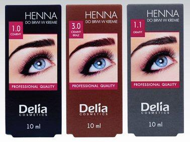 Henna do brwi Delia Cosmetics, 10 ml