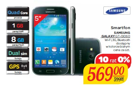 Smartfon SAMSUNG GALAXY GT-I9060