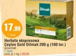 Herbata ekspresowa Ceylon Gold Dilmah 200 g (100 tor.) Gourmet