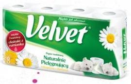 Papier toaletowy pachnący Velvet 3 warstwowy Velvet Care