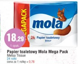 Papier toaletowy Mola Mega Pack Metsa Tissue