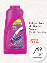 Odplamiacz do tkanin Vanish Reckitt Benckiser