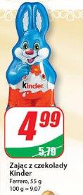 Zając z czekolady Kinder