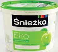 Farba akrylowa biała Eko hipoalergiczna Śnieżka 10 l