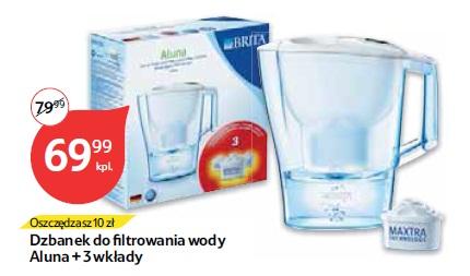 Dzbanek do filtrowania wody Aluna + 3 wkłady