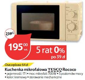 Kuchenka mikrofalowa TESCO Rococo