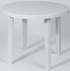 Stół ogrodowy plastikowy okrągły