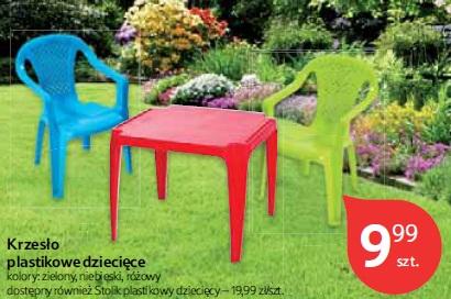 Krzesło plastikowe dziecięce