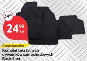 Komplet tekstylnych dywaników samochodowych Basic 4 szt.