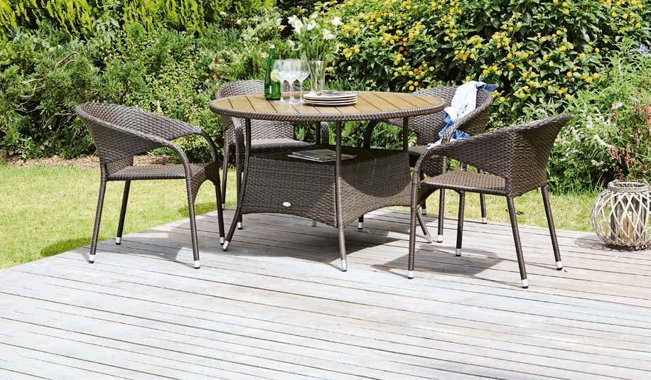 Stół Strib + 4 krzesła Arendal