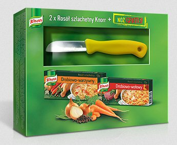 Rosół szlachetny Knorr, 12x20 g + nóż Gratis