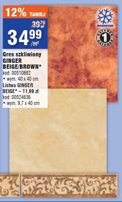 Gres szkliwiony Ginger Beige/Brown