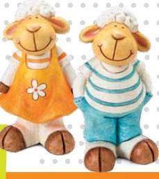 Figurki ogrodowe owieczki