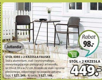Stół Idre + 2 krzesła Fauske