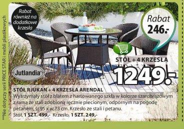 Stoł Rjukan + 4 krzesła Arendal