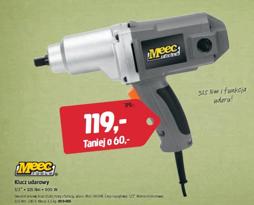 """Klucz udarowy 1/2"""" • 325 Nm • 900 W"""
