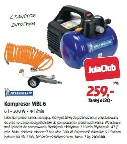 Kompresor MBL 6 6 l • 300 W • 47 l/min