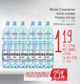 Woda Cisowianka różne rodzaje Polskie Zdroje